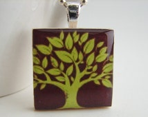Oak Tree Pendant with Free Necklace