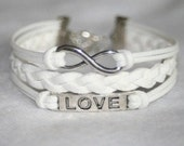 SALE*** ! Set of Three White Bracelet, Friendship Bracelet