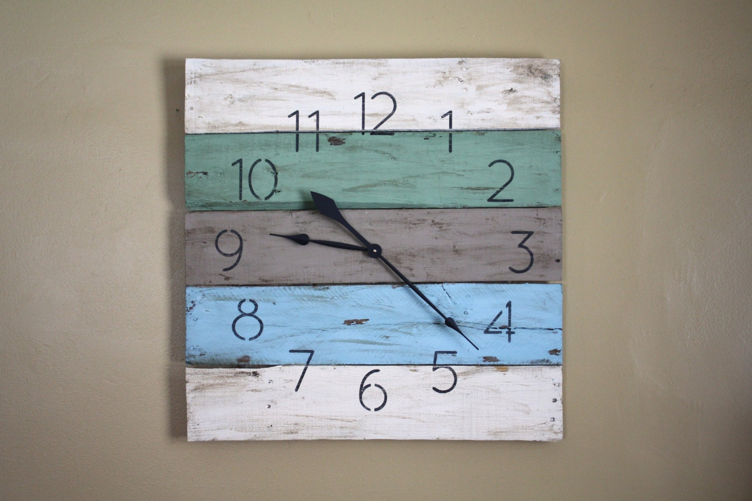 Large Wall Clock Modern yet RUSTIC Beach House Style