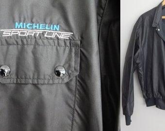 vintage 80s Michelin Swingster nylon Jacket  Windbreaker Jacket XL