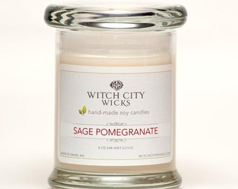 Sage Pomegranate  Spring candle soy candle jar, Mother's Day / Bridesmaid gift / wedding gift