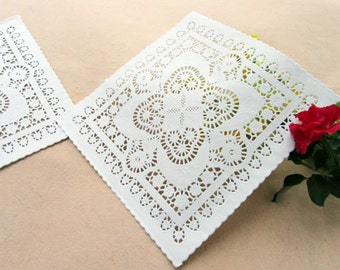 Paper Doilies Square 10 inch set of 50