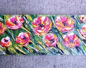 "HUGE SALE Thick Acrylic Impasto ""Poppies Poppin"" on wood Painting"