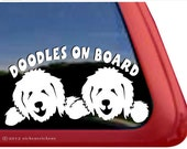 Doodles On Board   DC863OB   High Quality Adhesive Vinyl Goldendoodles Window Decal Sticker