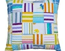 Vintage bedlinen quilted cushion