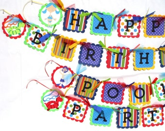Pool Party Happy Birthday Party Banner