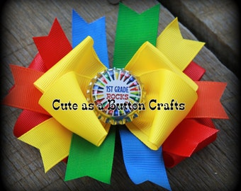 basic Boutique school boutique hair bow back to school hair bow CHOOSE YOUR BOTTLECAP