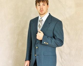 Vintage Mens Blazer Size Medium Ocean Blue Gold Buttons 40R Country Club Jack Nicklaus The Bear Sport Coat Homespunsociety