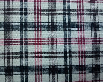 Red black and brown argyle, ivory, fat quarter, pure cotton fabric