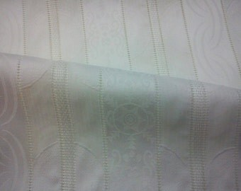 Just white, several weave patterns, fat quarter, wide, pure cotton fabric