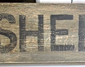 SHED  sign