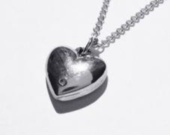 Tin and Diamond Heart Pendant Traditional and Modern 10th Wedding Anniversary Gifts