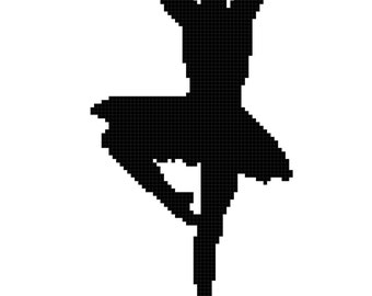 Ballet Position En Haut Wall Art Cross Stitch Pattern