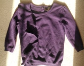 Fenn Wright Manson purple merino wool ruffle sweater 38 inch chest
