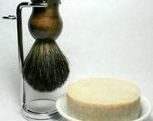 Black Badger Shave Brush Stand and Soap #EtsyGifts