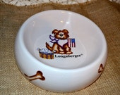 Longaberger Pottery Dog Bowl