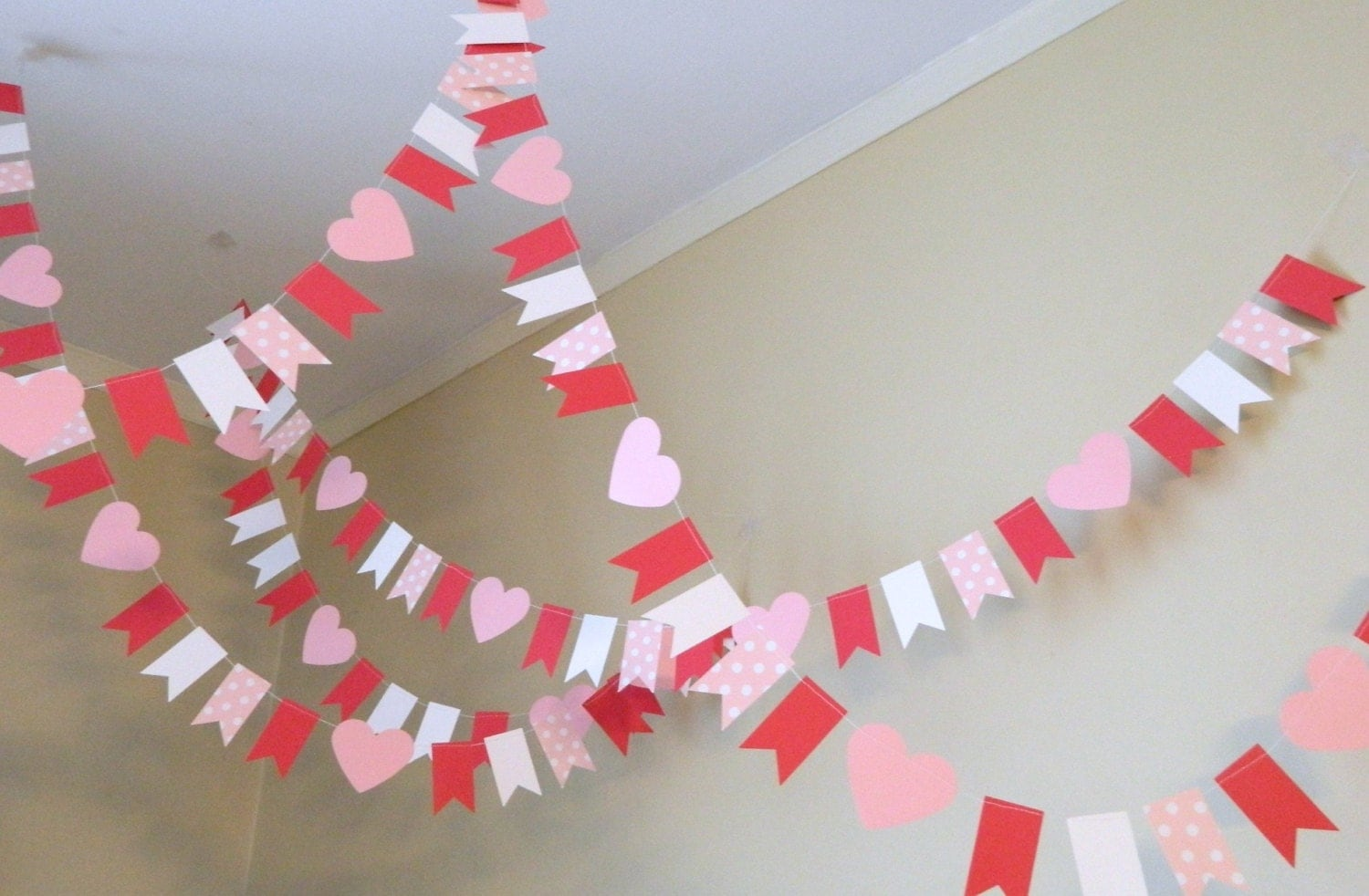 Valentine Decorations 10 Ft Mini Flag Valentines Day Paper