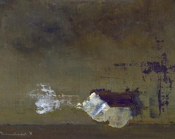 Nocturne — Original Oil Painting, Landscape Painting, Abstract Landscape, Original Painting, Abstract Oil Painting, Fine Art, 5 x 7
