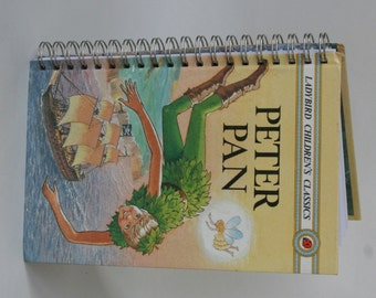 Ladybird book Peter Pan notebook recycled from a vintage book