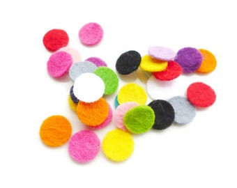 Felt circles pre cut felt shapes haberdashery Small felt circles felt shapes circles