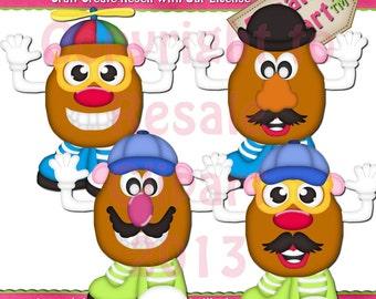 Inspired Potato Head Clipart (Digital Download)