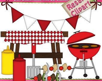 BBQ Set 1  Clipart (Digital Download)