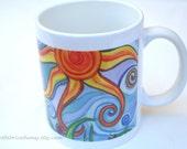 Mug with Original Painting Sunny Skies