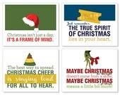 Items Similar To Christmas Holiday Quote Cards Digital
