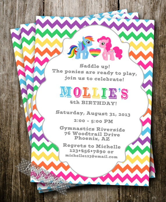 My Little Pony Custom Invitations with amazing invitations example