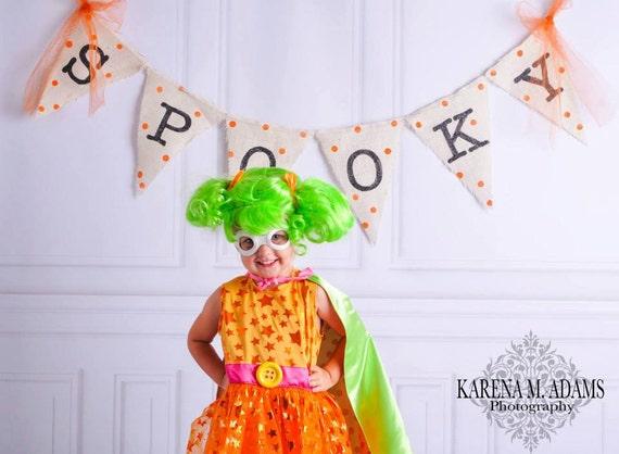 SPOOKY Halloween Burlap Banner Bunting