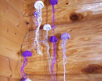 Purple Jellyfish Mobile