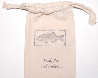 Fishing Favor Bags / Set of 80/ Birthday Party Favor Bags