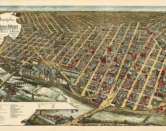 1891 Panoramic View of Minneapolis