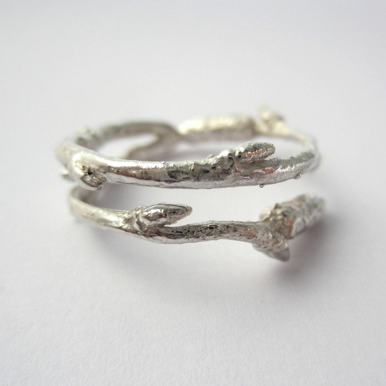 twig ring nature ring twig wedding ring birch twig ring