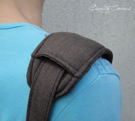 Shoulder PAD - 1 piece / Super PADDED 8mm for carrying comfort - Customizable as color fabric