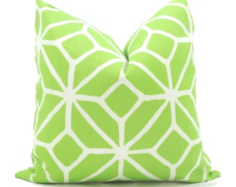 Trina Turk Green Trellis Indoor Outdoor Pillow Cover, Schumacher, 18x18, 20x20, 22x22 or 14x20