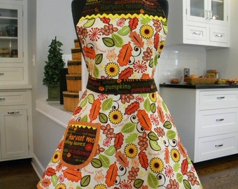 WOMENS APRON-Harvest Foliage Full Apron