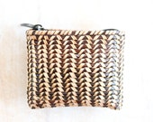 Woven Wicker Small Coin Purse