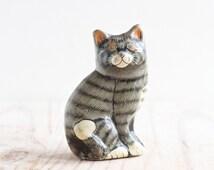 Papier Mache Cat - Small ornament