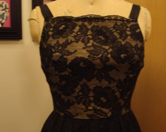 Vintage black lace ball gown