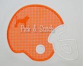 Hound Dog Football Helmet Applique Design Machine Embroidery INSTANT DOWNLOAD