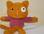 Callie the Cat Crocheted Stuffed Animal Plush Plushie Softie Kitty Kitten Amigurumi Doll Made to Order