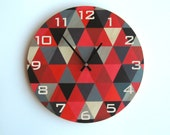 Objectify Smidgeon with Numerals Plywood Wall Clock - Large