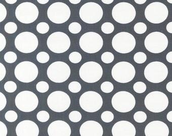 SALE Spot On Large Spots in Grey Robert Kaufman Fabrics (1 yard) SALE
