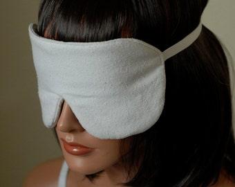 Raw Silk Eye Mask Sleep Mask, Color Options, Fully Adjustable, Padded, Light Darkening for Sleep, Anti-Wrinkle/Aging, Travel Eye Mask