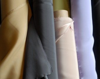 "100% Silk Fabric By the Half Yard 45"", 19mm Mulberry SIlk Charmeuse"