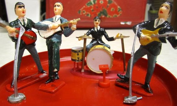 Cake Decorations Toppers Rock And Roll Band Musicians By
