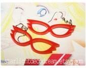 SAILOR V Mask Sailor Moon Inspired Acrylic Earrings for Mahou Kei & Magical Girl Fashion