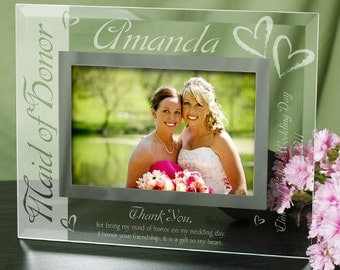Maid of Honor Glass Picture Frame -gfyG929151