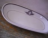 1930's Elks BPOE Oval Serving Dish - Liberty Vitrified China Restaurant Ware - Albert Pick Co